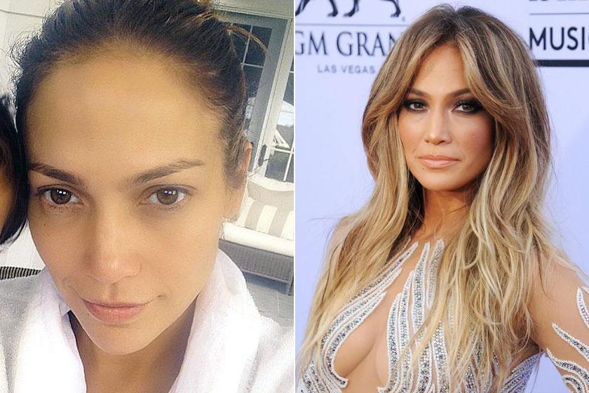 Nem véletlen, hogy Jennifer Lopezt sokan a világ egyik legszebb nőjének tartják - smink nélkül is gyönyörű.
