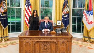 Kim Kardashian és Donald Trump megbeszélésének eredménye: egy ritka kellemetlen közös fotó