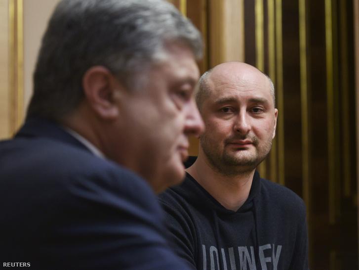 Porosenko elnök és Babcsenko Kijevben