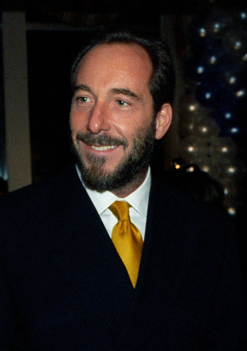 Fenyő János egy évvel a halála előtt, 1997 februárjában a Magyar Újságírók Országos Szövetsége rendezvényén a Mariott Szállóban.