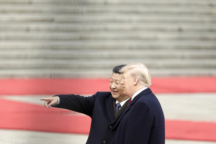 Trump és Hszi Csin-ping Pekingben 2017 novemberében