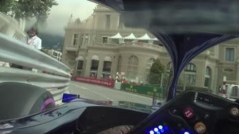 Ennyit látott egy F1-pilóta Monacóban a sisak mögül