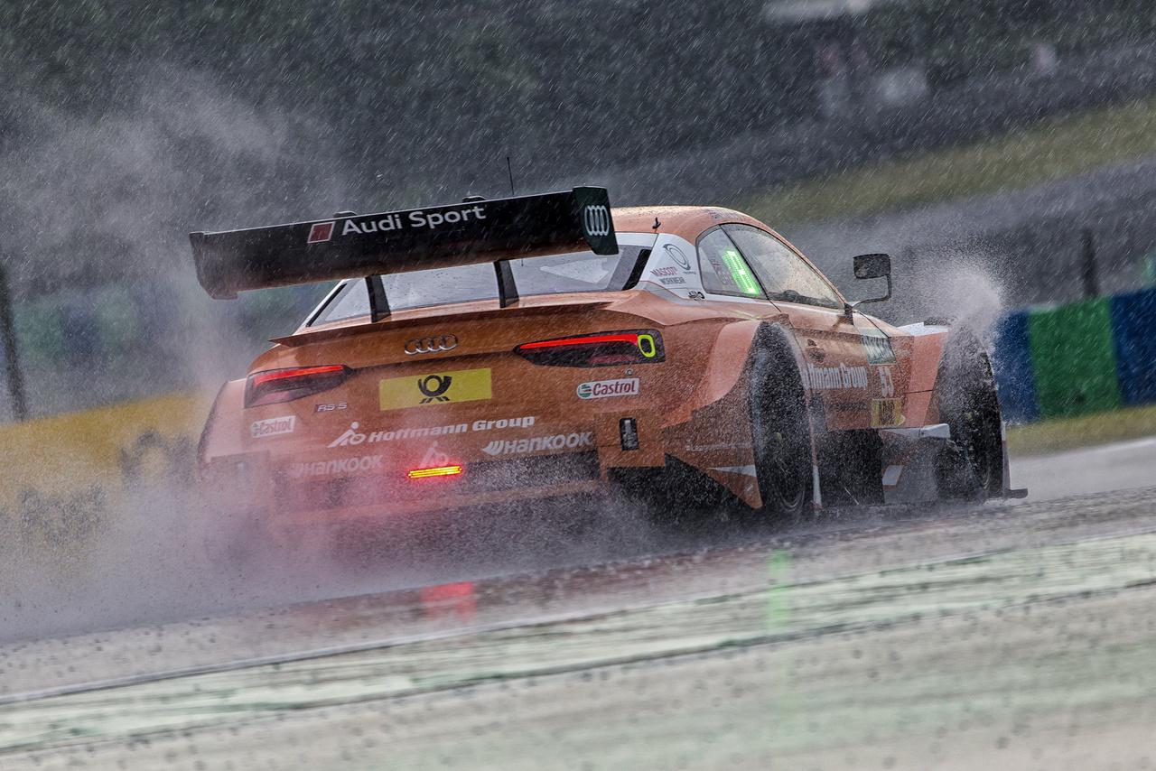 Jamie Green alig tudta a pályán tartani az Audiját, olyan özönvíz zúdult pillanatok alatt reggel a Hungaroringre