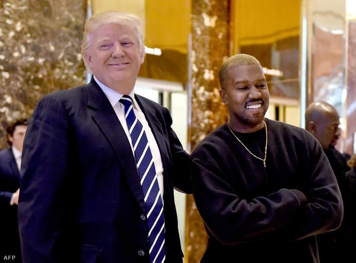 Donald Trump és kanye West a Trump Towerben 2016. december 13-án