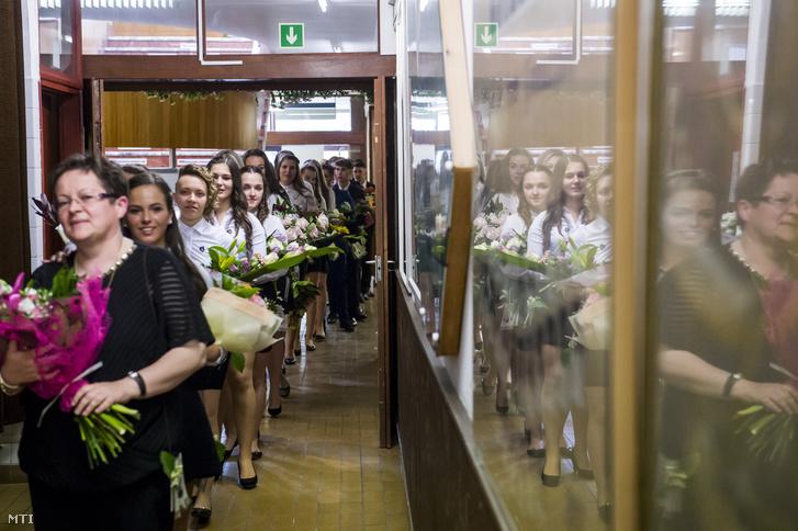 Ballagási ünnepség a salgótarjáni Madách Imre Gimnáziumban 2018. május 4-én.