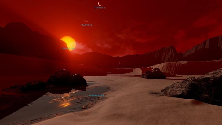 A TRAPPIST-1d virtuális felszíne.