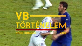 A döntőből mindenki csak Zidane fejelésére emlékszik - Németország, 2006