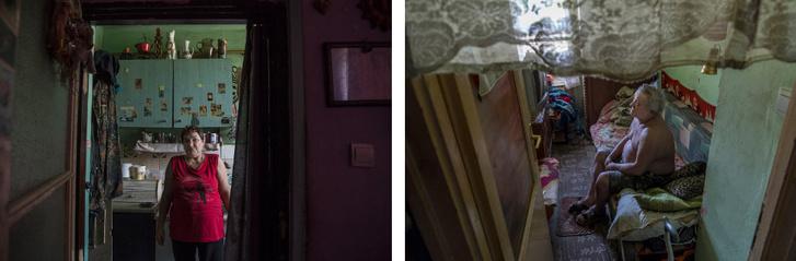Jutka és Sanyi visszautasította a felajánlott tetőtéri cserelakást, mert a mozgássérült férfi nem tudna lemenni a lépcsőkön, illetve a hat fős család amúgy sem fért volna el a másfél szobás lakásban.