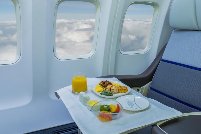 Mit adnak enni az első osztályon, és mit a turistán? Képeken 8 légitársaság menüje