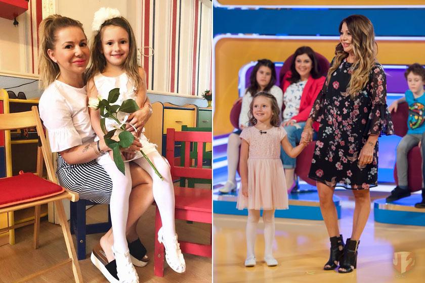 Judy és kislánya, Maja idén anyák napján és tavaly áprilisban, a TV2 egyik műsorában.