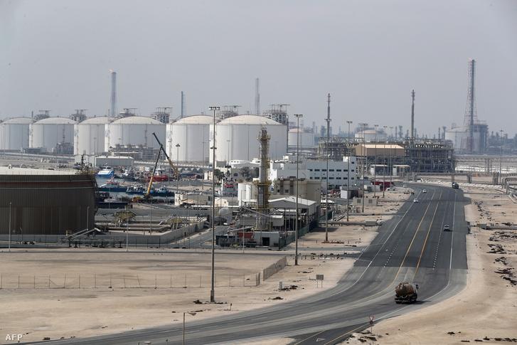 Katari gázmező Ras Laffanban.