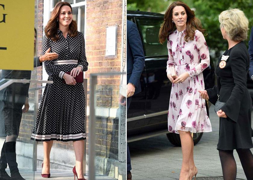 Katalin hercegné Kate Spade-ruhákban.