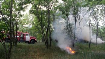 Lángolt a sugárszennyezett erdő Csernobilnál
