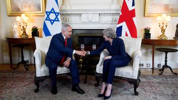 Netanjahu Londonban akaszkodott össze Theresa May-jel