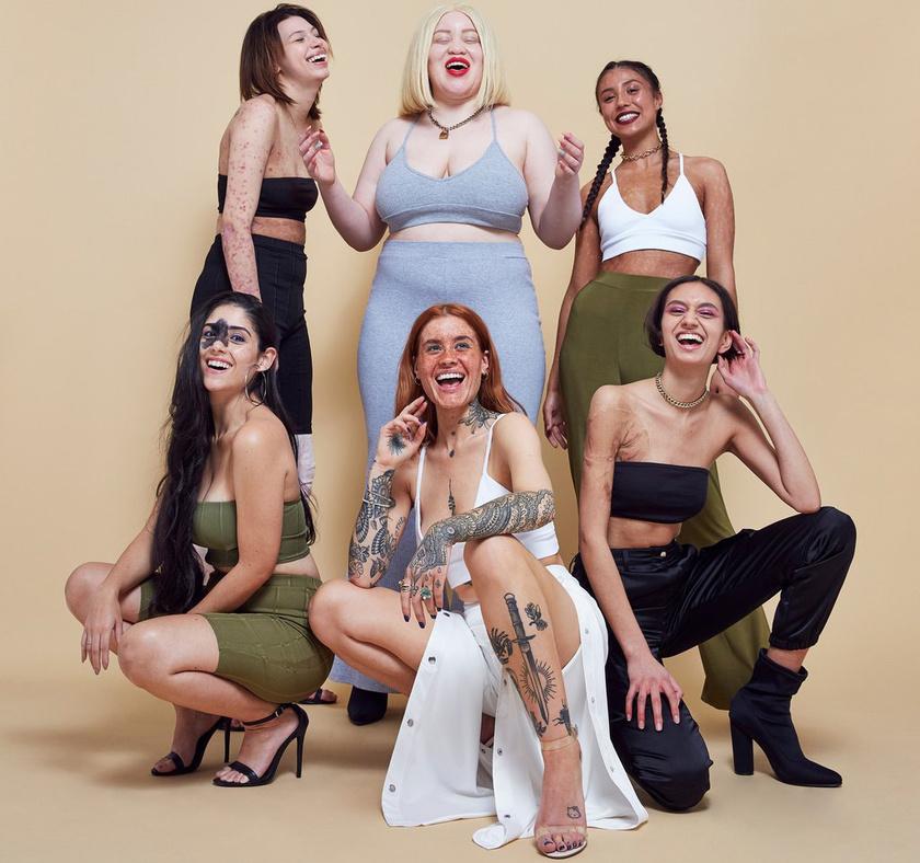 A márka azt akarta üzenni, hogy semmi sem tökéletes: hat különlegesen szép modellt választottak ezért a képekhez. Olyanokat, akikhez hasonlókkal ritkán találkozni a plakátokon.
