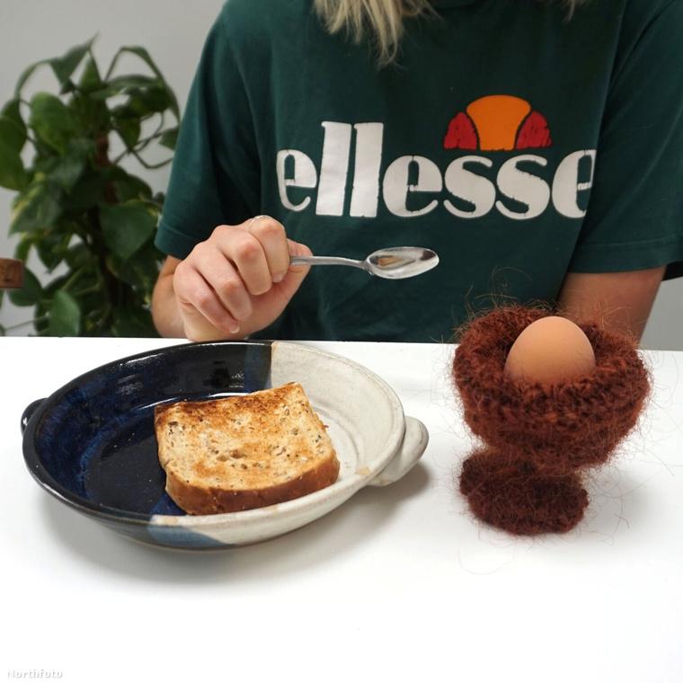 Ez a tojás pedig tök olyan, mintha nem tojástartóban lenne, hanem egy fészekben