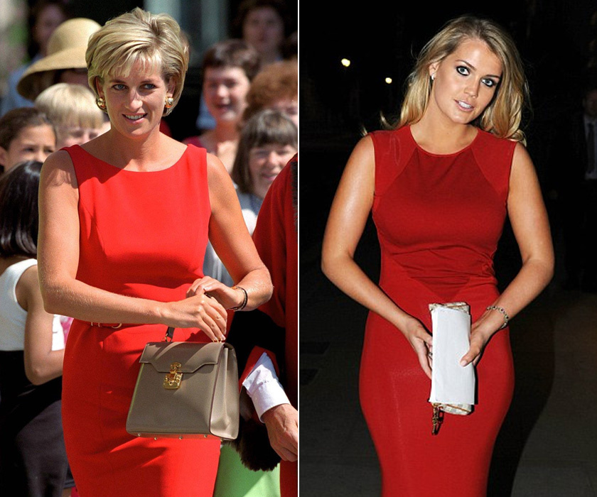 Mindketten imádták a piros ruhákat - hiába, a szőkéknek remekül áll ez az erőteljes szín.