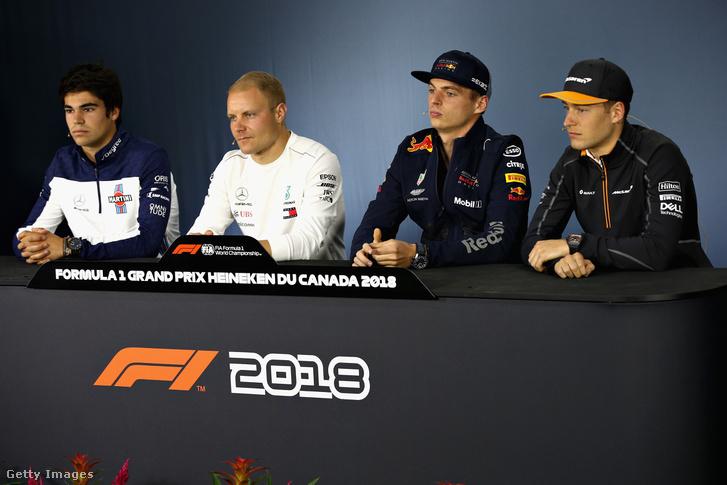 Stroll, Bottas, Verstappen és Vandoorne a montreali sajtótájékoztatón
