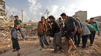 Többtucatnyi szíriai civilt bombáztak le orosz gépek