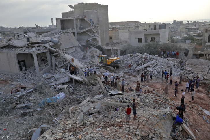 Zardana városa a bombázást követően
