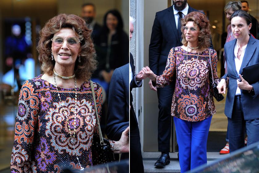 Sophia Loren még mindig gyönyörű - mintha el sem telt volna az a jó néhány évtized.