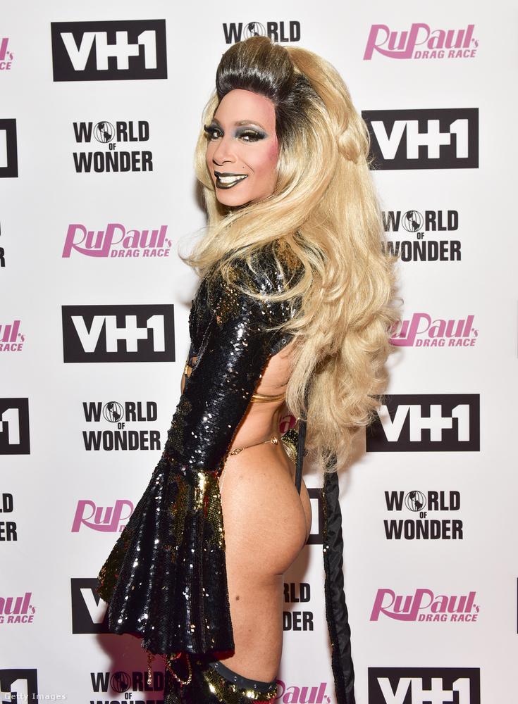 Az eseményen egyébként megjelent egy csomó olyan vendég is, aki még sosem szerepelt a RuPaul's Drag Race-ben, ő például Felony Misdemeanor.