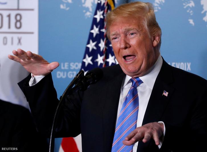 Az amerikai elnök sajtótájékoztatója a G7 csúcstalálkozón
