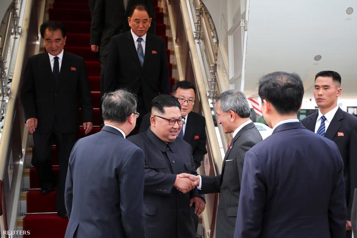 Kim Dzsongun megérkezik Szingapúrba, június 10-én.