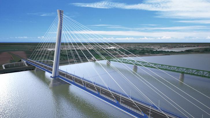 Az új komáromi Duna-híd látványterve