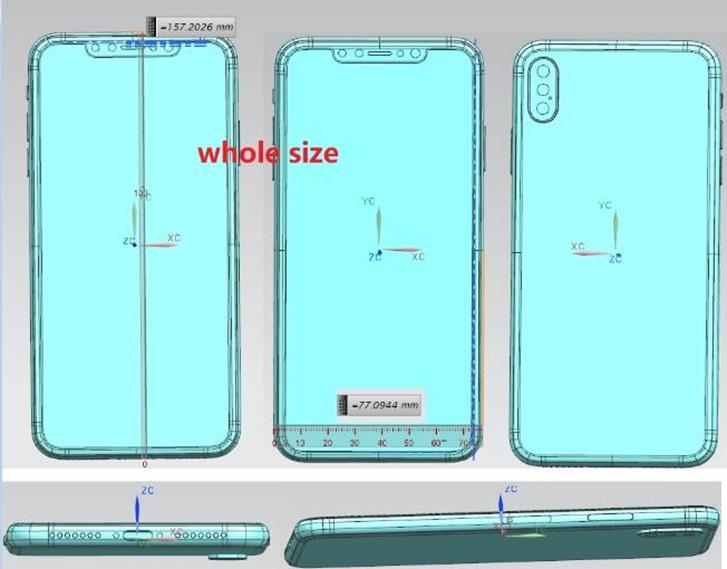 A képen állítólag az új iPhone tervrajza látható