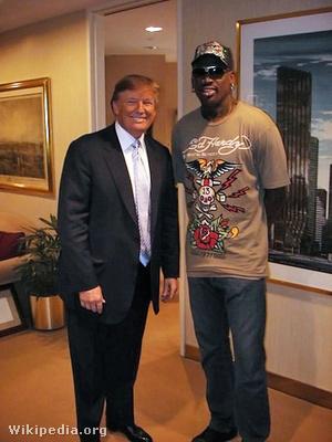 Donald Trump és Rodman 2009-ben a Celebrity Apprentice forgatásán