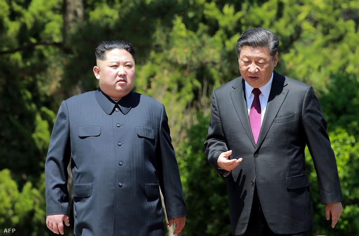 Kim Dzsongun és Hszi Csin-ping találkozója Kínában 2018 május 8-án