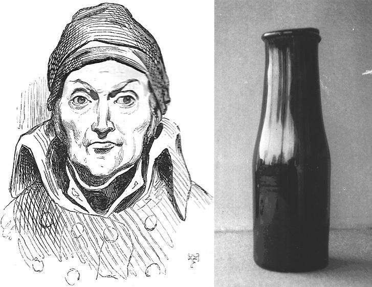 Nicolas Appert és az általa használt egyik üvegcse
