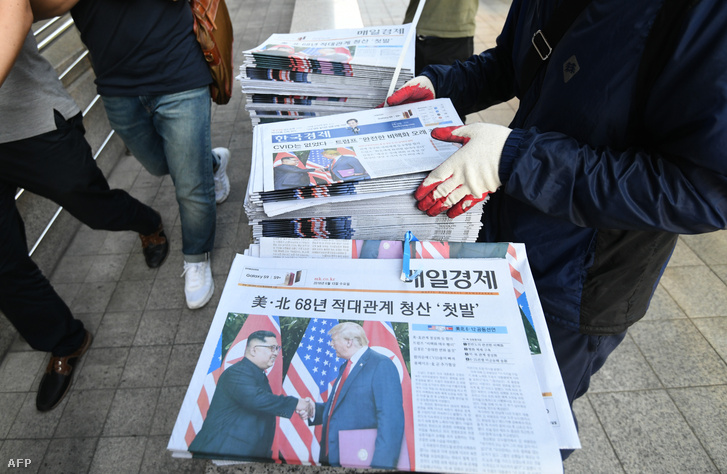 A találkozó utáni első reggeli újságok Dél-koreában
