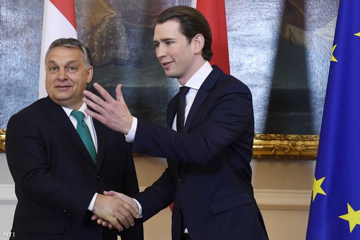Orbán Viktor és Sebastian Kurz