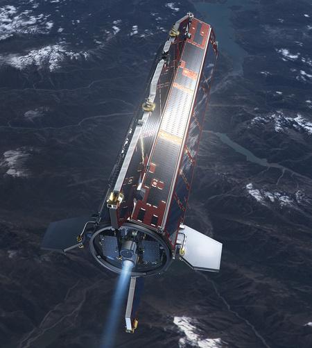 A Goce szatellit (Kép: ESA/HPF/DLR)