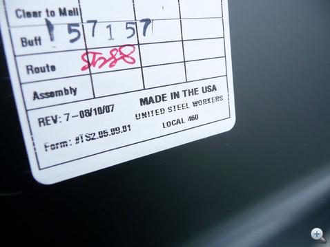Egy megnyugtató Made In USA felirat
