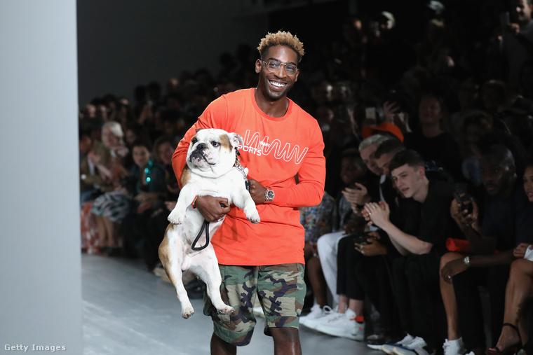 Tinie Tempah rapper pedig a kutyájával