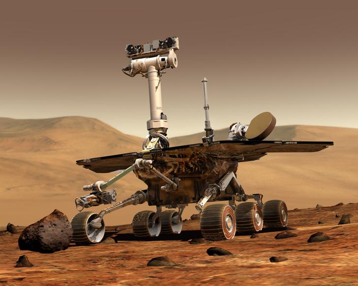 Művészi illusztráció az Opportunity marsjáróról.