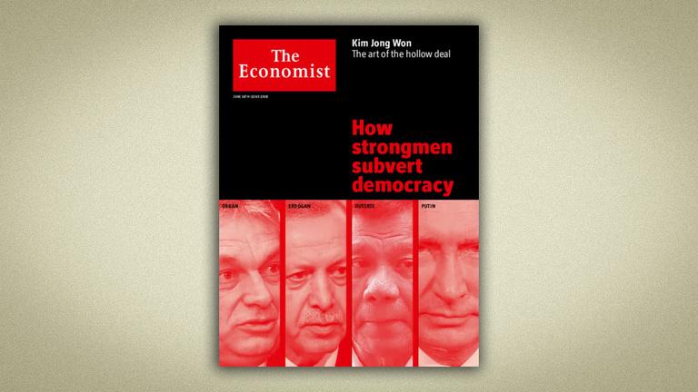 Orbán, Putyin, Erdoğan és Duterte együtt az Economist címlapján
