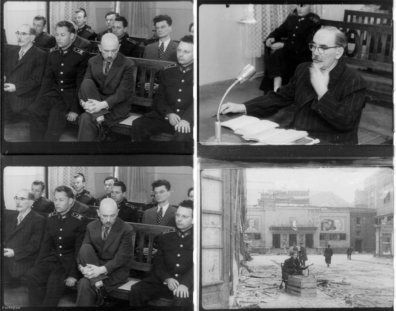 """Bírósági felvételek és egy Korvin közi vágás a propagandafilmből. A film elkészítésének ötlete a Belügyből jöhetett, értelmi szerzője Rajnai Sándor volt, filmes munkatársa pedig az a Kolonits Ilona, aki """"Így történt"""" címen csinált olyan, a kádári megtorlást megideologizáló filmet '56-ról, amit be is mutattak (és ő készítette azt a kisfilmet is a bécsi VIT-ről, melynek felvételeit a múltkor láthatták nálunk a Fortepan-válogatásunkban). Több tárgyalási napon is forgattak, de egy-egy napon csupán néhány órát. Elsősorban Nagy Imre kihallgatását és szembesítéseit örökítették meg."""