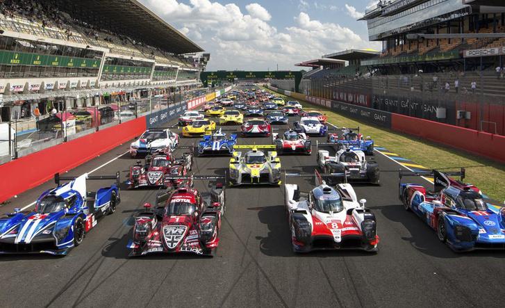 Egy képen a 2018-as Le Mans mezőnye