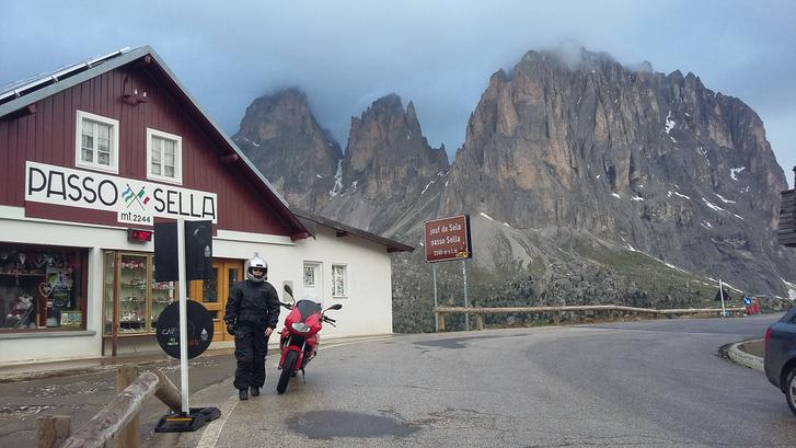 Passo Sella, ahol mindig drámai a kilátás