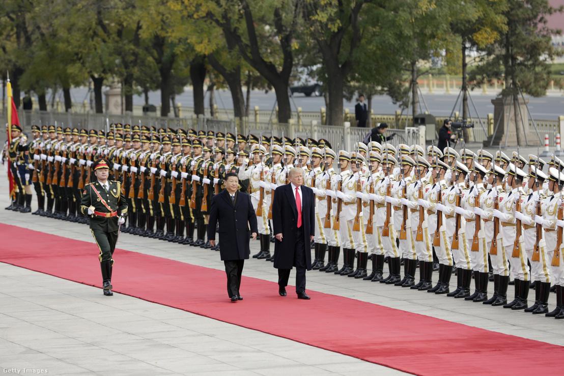 Donald Trump találkozója a kínai elnökkel 2017. novemberében.
