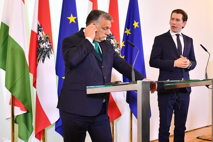 Sebastian Kurz és Orbán Viktor találkozója 2018. januárjában.