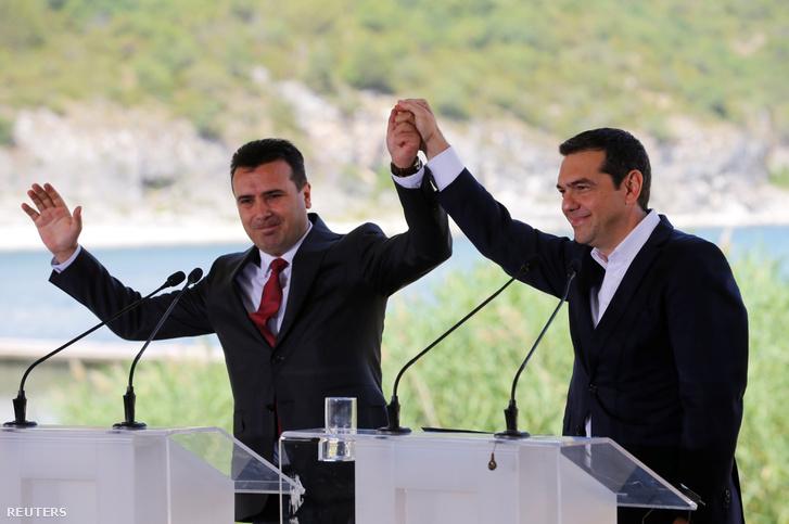 Zoran Zaev és Alekszisz Ciprasz