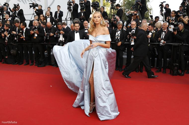A 2017-es Cannes-i filmfesztiválon Elsa Hosk professzionális ruhaigazgatójáról készült véletlenül fénykép