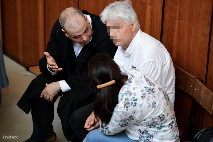 L. Csaba és felesége a bíróságon 2018. június 6-án