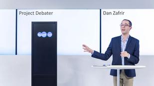 Félelmetes vitapartner az IBM robotja