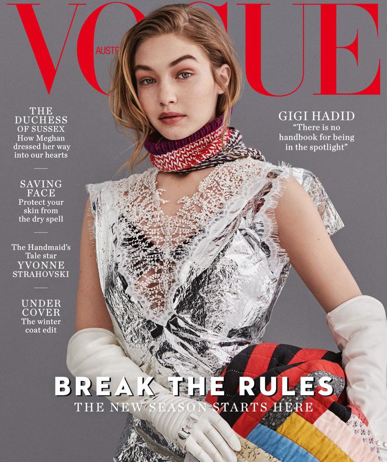Gigi Hadid az ausztrál Vogue címlapján emlékezik arra, régen milyen bűntudata volt.